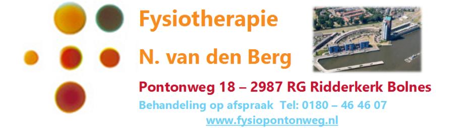Fysiopontonweg.nl Fysiotherapie Ridderkerk Bolnes